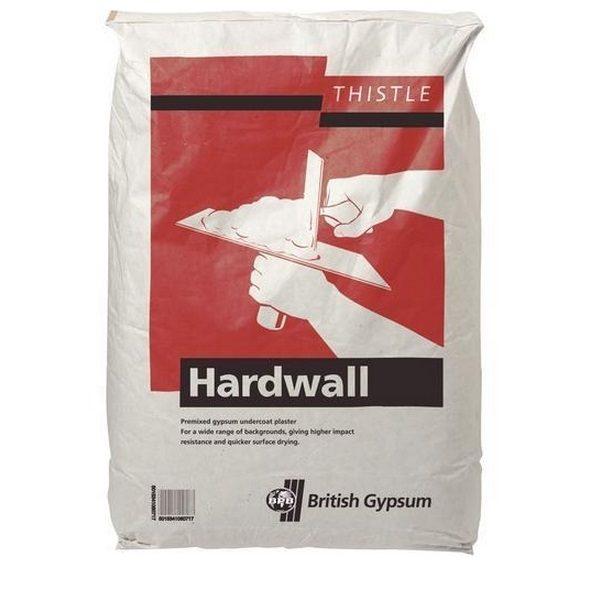 British Gypsum Thistle Hardwall Undercoat Plaster 25kg